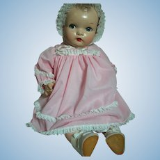 Early Composition Baby Doll Nice Outfit Composition Limbs Cloth Body  Flirty Eyes 24""
