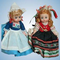"Madame Alexander Dolls  Polish and Netherlands Bent Knee 8"""