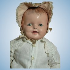 """Large Composition Cloth Baby Doll  Decal Sleep Eyes 28"""""""