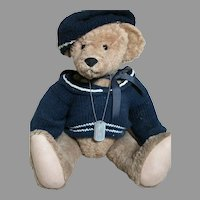 Donna Hodges Teddy Bear Christopher  Name on Dog Tag Large Bear 23""