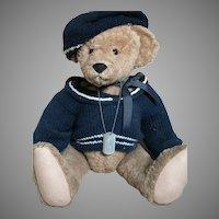 """Donna Hodges Teddy Bear Christopher  Name on Dog Tag Large Bear 23"""""""