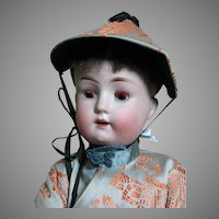 "Goebel Child Bisque Head doll Mold 120 Bavaria  Dressed as Oriental Girl 19"" tall"