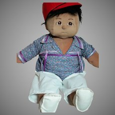 Large Soft Sculpture Doll Boy with Painted Features  24""