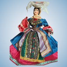 """Vintage International Cloth Greek Lady  Great Outfit Quality Made.  14"""""""