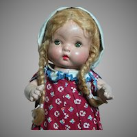 Horsman Doll Jo-Jo All  Composition Jointed All Original  1937   14""