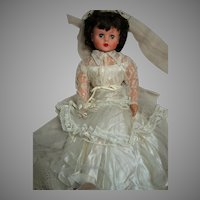 """Vintage Deluxe Reading Betty the Bride All Original  Rubber Body 29"""" 1950's"""