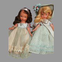 Nancy Ann Bisque Story Book 2 Dolls He Loves Me & one dressed in Blue