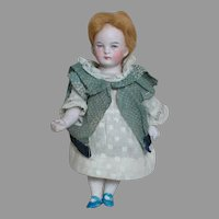 Rare Doll German All Bisque 5114 Jointed Doll  Intaglio Eyes 6""