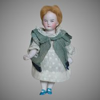 """Rare Doll German All Bisque 5114 Jointed Doll  Intaglio Eyes 6"""""""