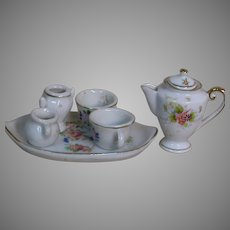 Miniature Dollhouse Porcelain Coffee or Tea Set 7 Pieces