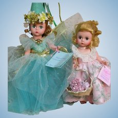 Two Madame Alexanders Doll Fairy of Song & Wendy Loves  8""