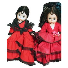 """Two Madame Alexander dolls Spain  and Spanish 1 Box  8"""""""