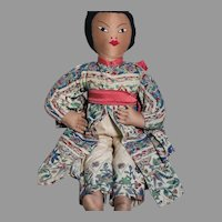 """Large Cloth  Asian Doll  Very well Dressed 18"""""""