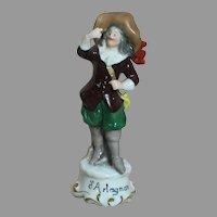 Capodimonte Erphile Statue D'Artagnan Musketeer Statue 4-3/4 inches