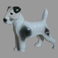 """German Pfeffer Porcelain  Terrier Dog  Black & White  6"""" X 6"""""""