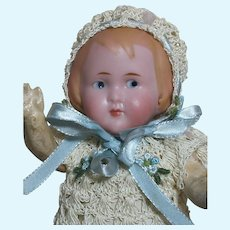 Antique Armand Marseille Character Doll 32/26 Side Glancing Intaglio eyes Composition Body 7""