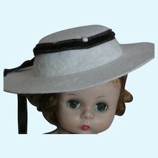 Vintage 1950's Doll Hat Madame Alexander doll is not included