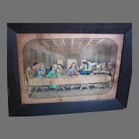 The Last Supper Framed Picture Publisher Ensign and Thayer Print 1849-1850