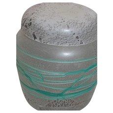 Laslo Mikasa Art Glass Design Luminescent Glass Ginger Jar
