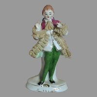 Nice Quality Lace Porcelain figurine of a Man  4-3/4 inches tall