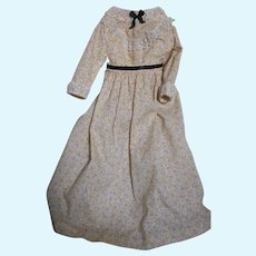 "Cotton Two Piece Doll Dress Suitable for China or lady doll 15"" long"