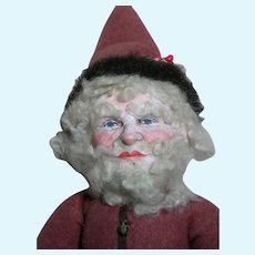 """Vintage Father Christmas Artist Doll  Cloth Doll Great Face  25 """" Tall"""