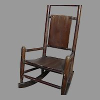 Antique Doll Wood Rocking Chair  Large Chair 16 inches tall Great for Teddy or  Doll