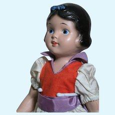"""Composition Snow White Doll All Original Painted Eyes  excellent Condition   14"""""""