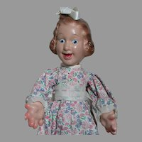 Ideal Fannie Brice Baby Snooks  Flexy doll Original outfit  1938 on