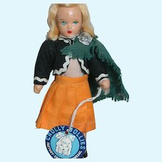"""Miniature Crolly Doll factory Crolly Co. Donegal Ireland Dollies  Composition  6""""  1939"""