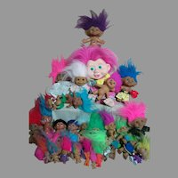 27 Troll Dolls By Different Company 1 inches to 12 inches tall
