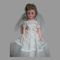 """Bride doll with Original Gown and Veil Marked with A on back 26"""""""