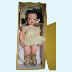 Terri Lee Child Doll  in Original Box Roller Skating Outfit  Marked Pat. Pending 1950's