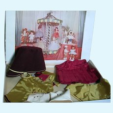 """Terri Lee  Boxed Majorette  Doll Tagged  Outfit  Felt Hat,  Jacket , Skirt , Boots, Box with Color Picture of Outfits 13"""" x 9"""" x2 """""""