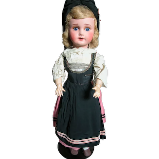 """French Bebe Doll Made in France bisque Head Composition Body 21"""" Tall"""