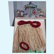 """Terri Lee  Boxed Majorette  Doll Tagged  Outfit  Hula outfit   Box with Label of Hula  13"""" x 9"""" x2 """""""