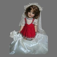 """Ideal Toni Doll with Original Outfit and a Bride Outfit  P-91  1950's  15"""" Tall"""