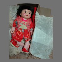 "Japanese Kyugetsu Composition Baby Doll in Original box   13"" tall"