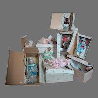 "Yolanda's Bello Bisque  Mini Picture Perfect Babies  10 Dolls  6""  Still in boxes"