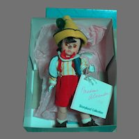 """Madame Alexander Doll Pinocchio 8""""  Story and  Series  Mint in box"""