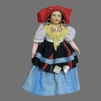 "Magis Roma Felt Doll Made in Italy Marche  11"" tall"