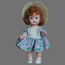 Nancy Ann Debbie  Hard Plastic  Walker  10- 1/2 inches  Original Outfit   1950's