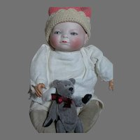 """Antique Grace Putnam German Bye-Lo Baby doll 12"""" 12"""" head Circumference  AS Is"""