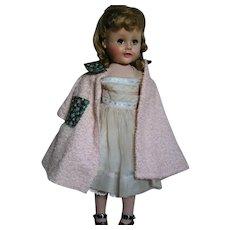 "Madame Alexander Doll Madelaine All Original plus tagged Terry Wrap Around  1950s  18"""