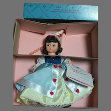 """Madame Alexander Doll Queen Of  Hearts  8""""  Mint in box"""