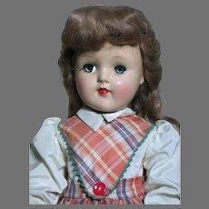 "Ideal Toni Doll P-93  All Original  Nice Color  Dress Has  Ideal Toni tag   21"" tall  1950s"
