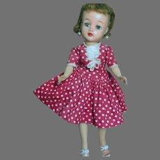 "Ideal Little Miss Revlon Doll In Original Dress and Girdle & Bra  10-1/2 ""   1950s"