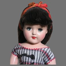 Ideal Brunette Toni Doll P-93  Original Outfit  21 inches 1950's  very Pretty