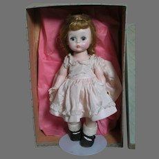 """Madame Alexander Doll  Alex-Kin  in box Bent Knee Walker   Tagged Dress   8"""""""