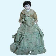 """Small China Shoulder Head Doll with Original Cloth Body and old Clothes  9"""""""